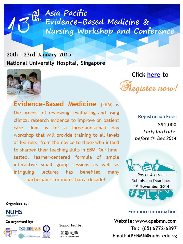 13th APEBMN poster (19-22 Jan 2015)