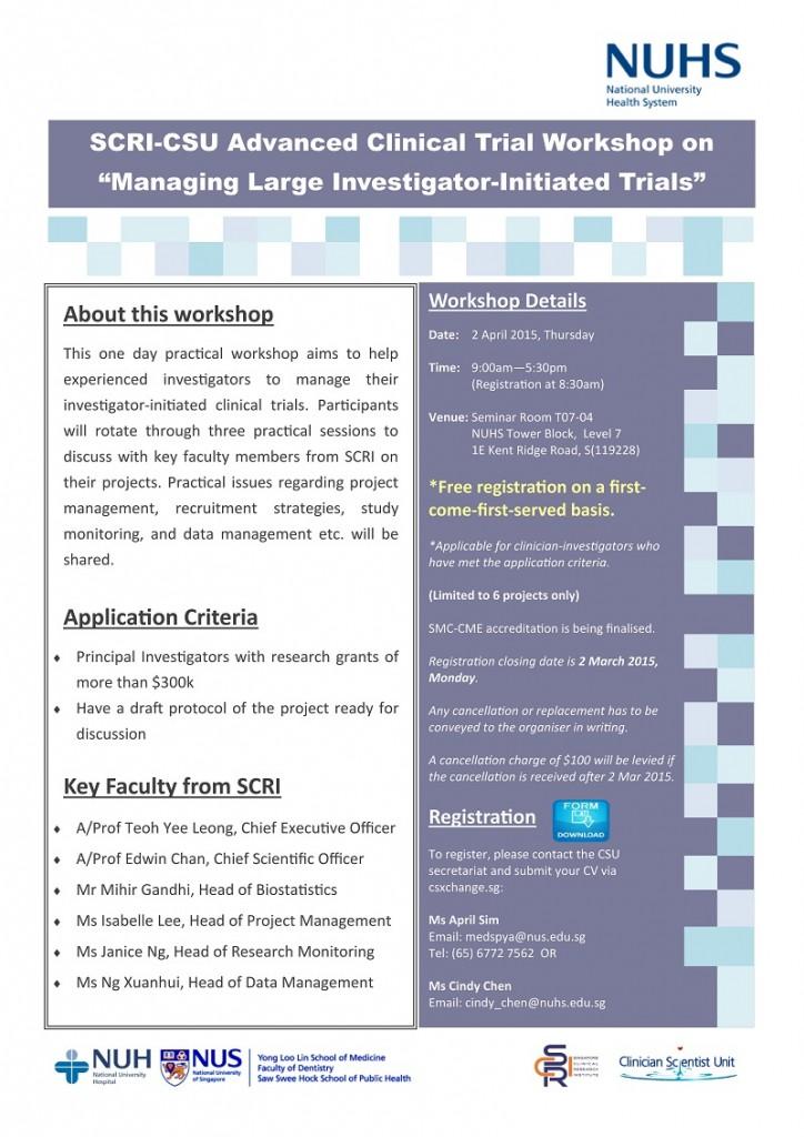 Clinical Trial Workshop (2 Apr 2015)