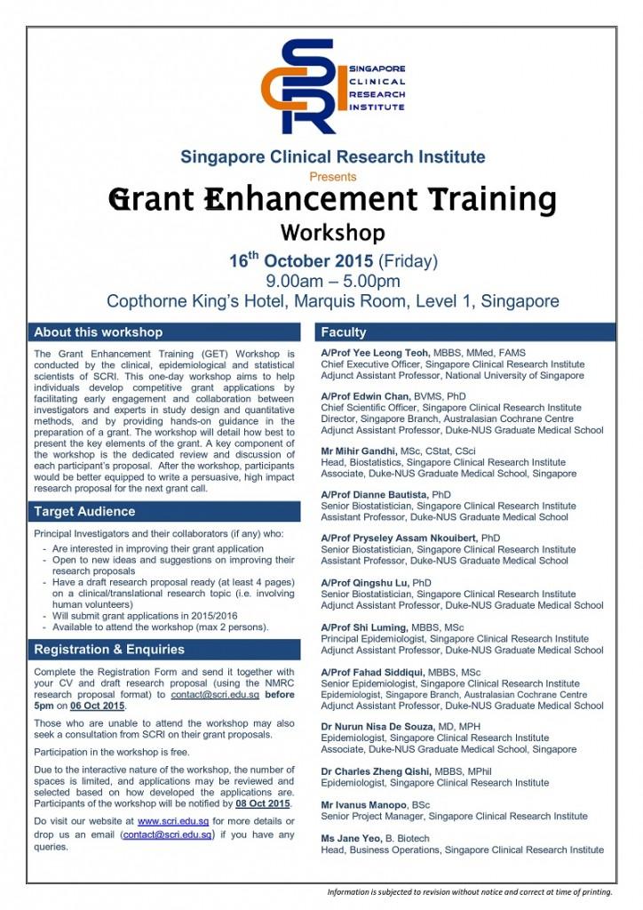 SCRI_Grant Enhancement Training_16Oct2015